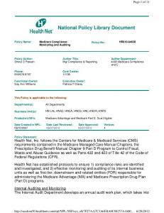 National Policy Library Document