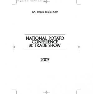 NATIONAL POTATO CONFERENCE & TRADE SHOW