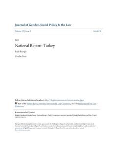National Report: Turkey