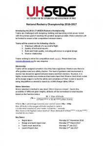 National Rocketry Championship