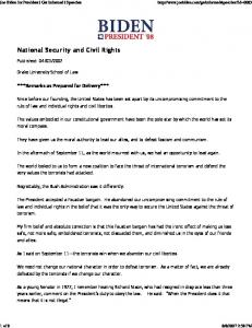 National Security and Civil Rights