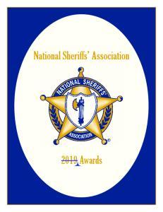 National Sheriffs Association Awards