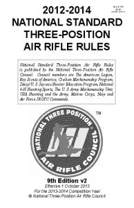 NATIONAL STANDARD THREE-POSITION AIR RIFLE RULES