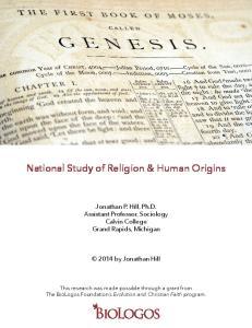National Study of Religion & Human Origins