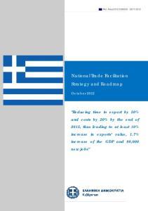 National Trade Facilitation. Strategy and Roadmap