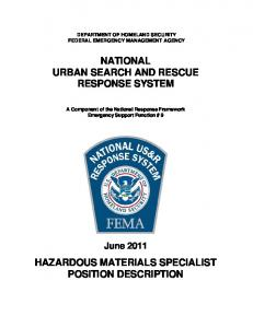 NATIONAL URBAN SEARCH AND RESCUE RESPONSE SYSTEM