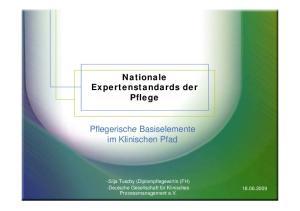 Nationale Expertenstandards der Pflege. im Klinischen Pfad