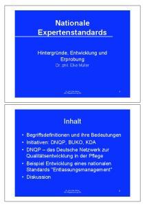 Nationale Expertenstandards