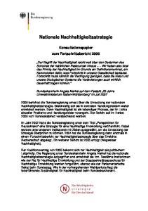 Nationale Nachhaltigkeitsstrategie