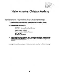 Native American Christian Academy