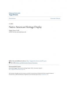 Native American Heritage Display