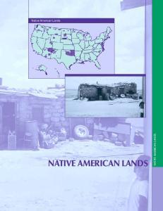 Native American Lands NATIVE AMERICAN LANDS NATIVE AMERICAN LANDS. High Need Areas 95