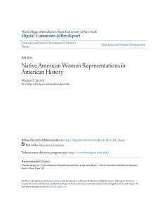 Native American Women Representations in American History