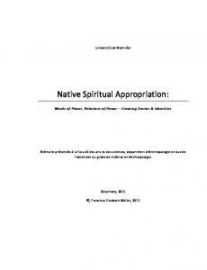 Native Spiritual Appropriation: