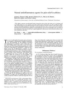 Natural antiinflammatory agents for pain relief in athletes