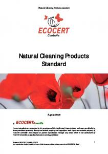 Natural Cleaning Products Standard