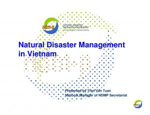 Natural Disaster Management in Vietnam