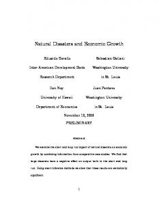 Natural Disasters and Economic Growth