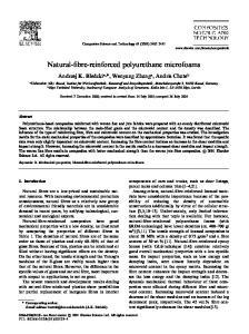 Natural-fibre-reinforced polyurethane microfoams