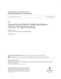 Natural Gas and Electric Utility Rate Reform: Taxation Through Ratemaking