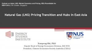 Natural Gas (LNG) Pricing Transition and Hubs in East Asia