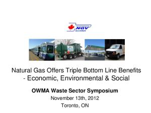 Natural Gas Offers Triple Bottom Line Benefits - Economic, Environmental & Social
