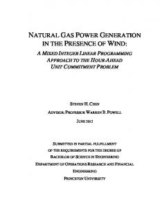 NATURAL GAS POWER GENERATION