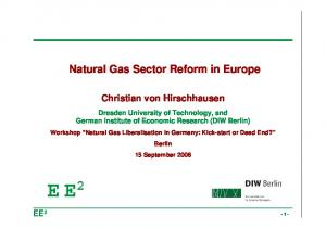 Natural Gas Sector Reform in Europe