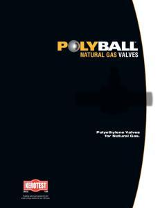NATURAL GAS VALVES Polyethylene Valves for Natural Gas