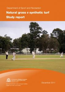 Natural grass v synthetic turf Study report