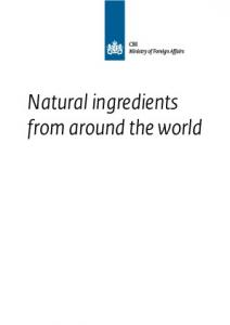 Natural ingredients from around the world
