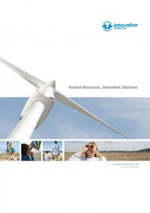 Natural Resources. Innovative Solutions