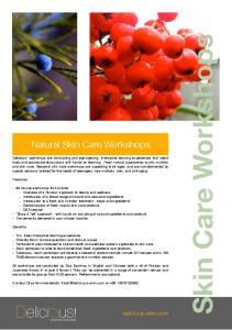 Natural Skin Care Workshops