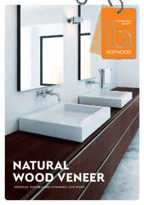 natural wood veneer Versatile, Durable and Ultimately, just right