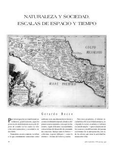 NATURALEZA Y SOCIEDAD. ESCALAS DE ESPACIO Y TIEMPO