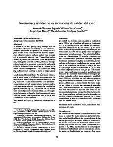 Naturaleza y utilidad de los indicadores de calidad del suelo
