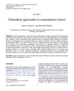 Naturalistic approaches to sensorimotor control