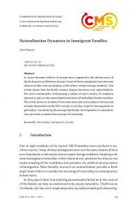 Naturalization Dynamics in Immigrant Families