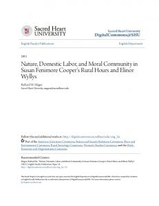 Nature, Domestic Labor, and Moral Community in Susan Fenimore Cooper's Rural Hours and Elinor Wyllys