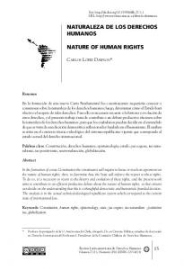 NATURE OF HUMAN RIGHTS