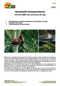 Naturparadies Tambopata Reservat