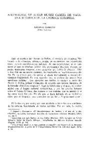 NAUFRAGIOS, DE ALVAR NU1EZ CABEZA DE VACA: UNA RETORICA DE LA CRONICA COLONIAL
