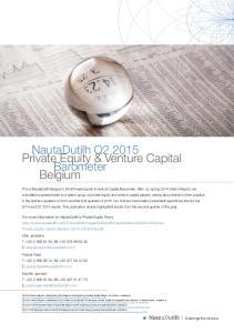 NautaDutilh Q Private Equity & Venture Capital Barometer Belgium