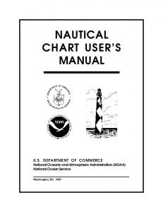 NAUTICAL CHART USER S MANUAL