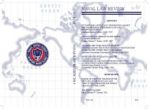 NAVAL LAW REVIEW VOL. 64 NAVAL LAW REVIEW 2015 ARTICLES
