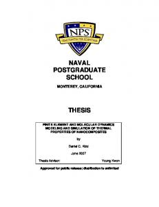 NAVAL POSTGRADUATE SCHOOL THESIS