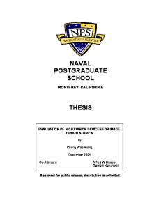 NAVAL POSTGRADUATE SCHOOL THESIS