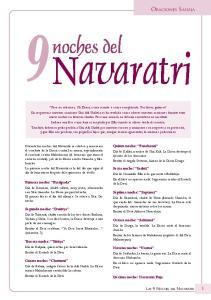 Navaratri. noches del ORACIONES SAHAJA LAS 9 NOCHES DEL NAVARATRI. Quinta noche: Panchami. Sexta noche: Sashti. Primera noche: Pratipada