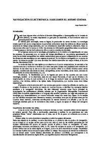 NAVEGACION ELECTRONICA: HABLEMOS EL MISMO IDIOMA