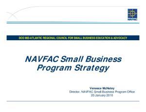 NAVFAC Small Business Program Strategy